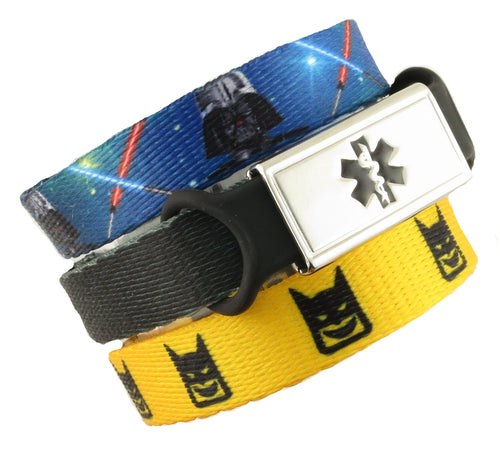 Darth & Bat Kid Value Pack Medical Bracelets