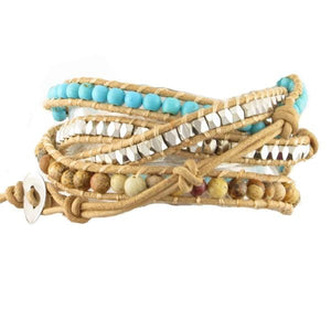 Desert Breeze Beaded Wrap Bracelets - n-styleid.com