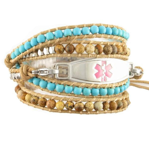 Desert Breeze Wrap Beaded Medical Bracelets