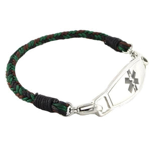 Forest Braided Medical ID Bracelet