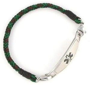 Forest Braided Medical ID Bracelet - n-styleid.com