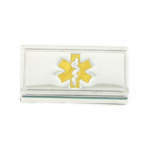 Gold Slider Medical ID Tags - n-styleid.com
