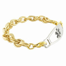 Golden Trend Medical ID Bracelet - n-styleid.com