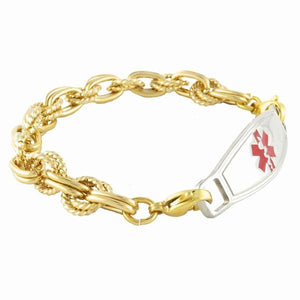 Golden Trend Medical ID Bracelet