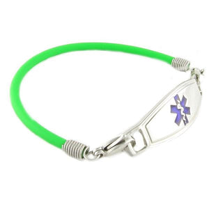Green Rubber Medical Bracelets