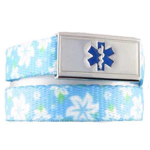 Hawaiian Flower Medical ID Bracelet