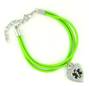 "Jamie ""Lime"" Medical Charm Bracelets - n-styleid.com"