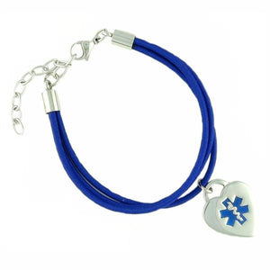 "Jamie ""Navy"" Medical Charm Bracelets - n-styleid.com"
