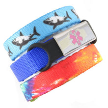 Jaws & TieDye Triple Pack Medical Bracelets - n-styleid.com