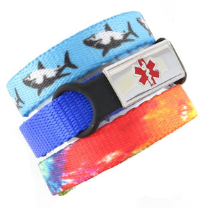 Jaws & TieDye Triple Pack Medical Bracelets
