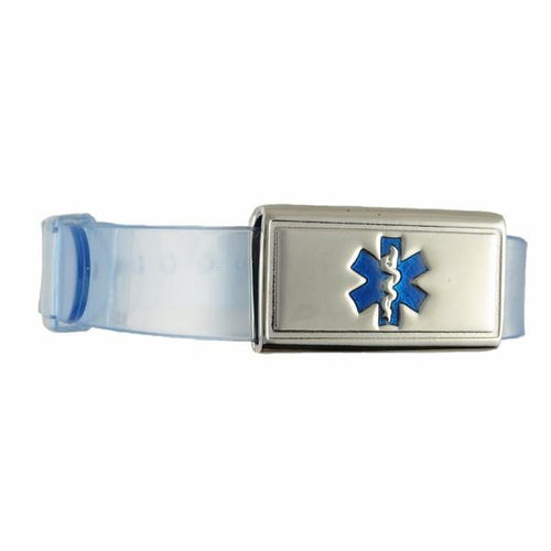 Jelly Band Crystal Blue Kids Medical Bracelet