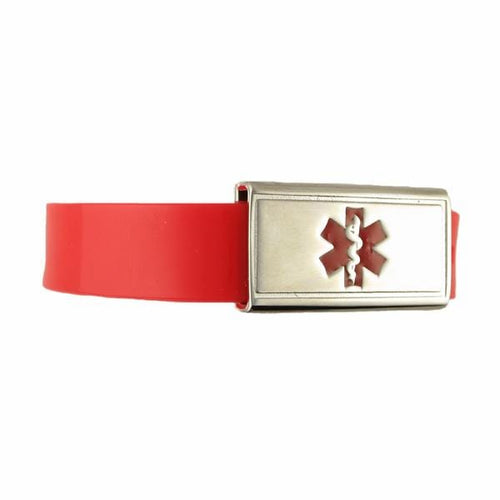 Jelly Band Red Kids Medical Bracelet - n-styleid.com