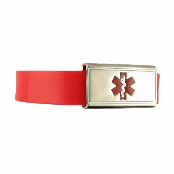 Jelly Band Red Kids Medical Bracelet