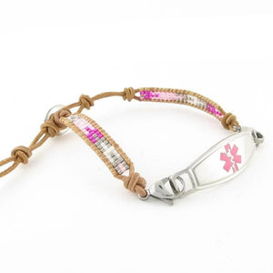 Madonna Adjustable Beaded Medical Bracelet
