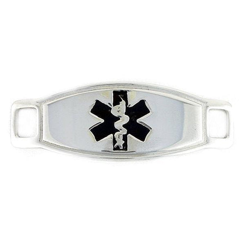 Max Black Contempo Medical ID Tag - n-styleid.com