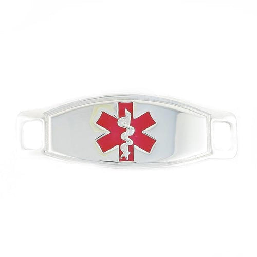 Max Red Contempo Medical ID Tags - n-styleid.com