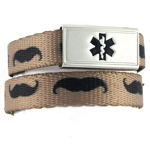 Mustache Medical ID Bracelets - n-styleid.com