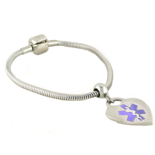 Pan-dorra Heart Medical Charm Bracelet