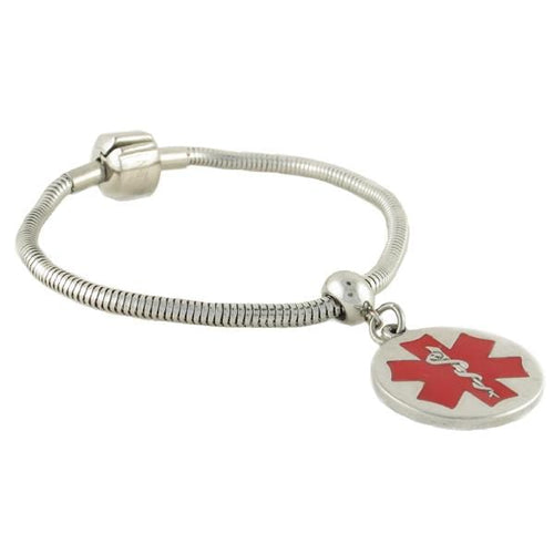 Pan-dorra Round Medical Charm Bracelet
