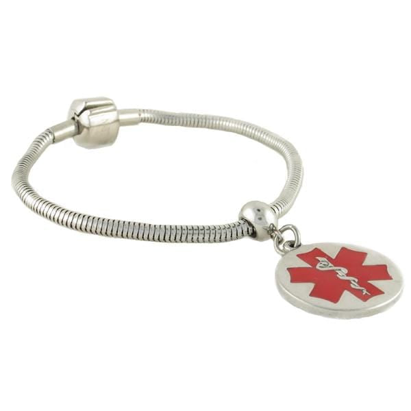 Pan-dorra Round Medical Charm Bracelet - n-styleid.com