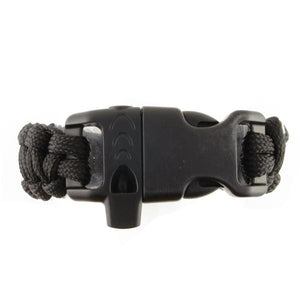 Emergency Paracord Bracelet with Whistle Black - n-styleid.com