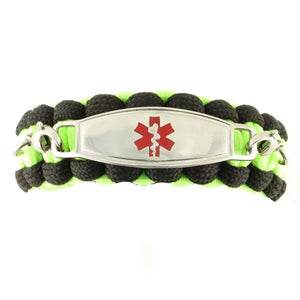 Whistle Paracord Medical Bracelet Glow in the Dark - n-styleid.com