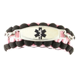 Whistle Paracord medical Bracelet Glow Pink - n-styleid.com