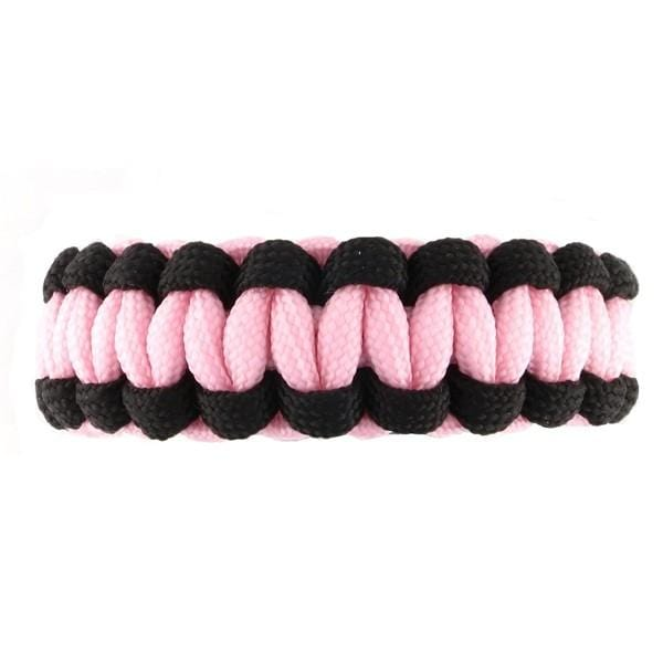 Paracord Whistle Emergency Bracelet Glow Pink (Without ID)