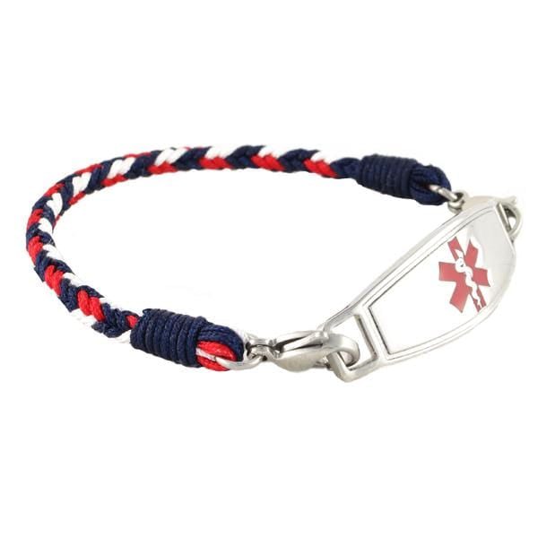 Patriot Braided Medical ID Bracelet w Contempo ID - n-styleid.com