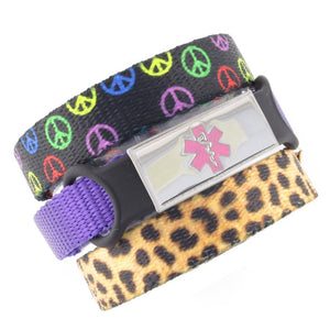 Peace & Cheetah Triple Pack Medical Bracelets - n-styleid.com