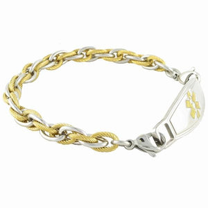 Pegasus Chain Medical Alert Bracelets w/Contempo ID - n-styleid.com