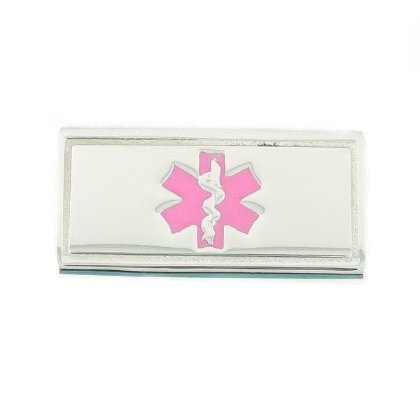 Pink Slider  Medical  ID Tags - n-styleid.com