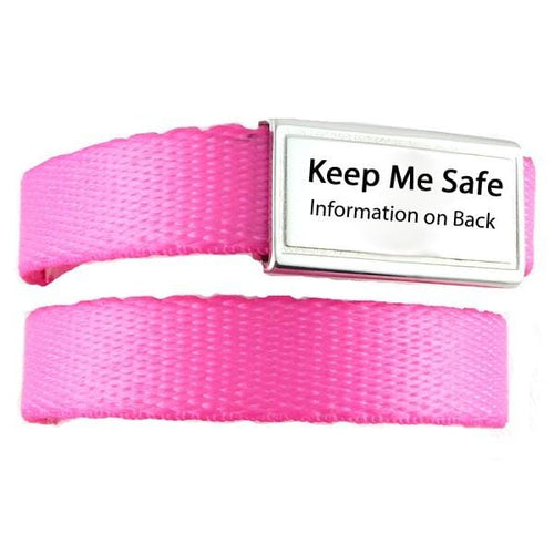 Pink ID Bracelets for Kids - n-styleid.com