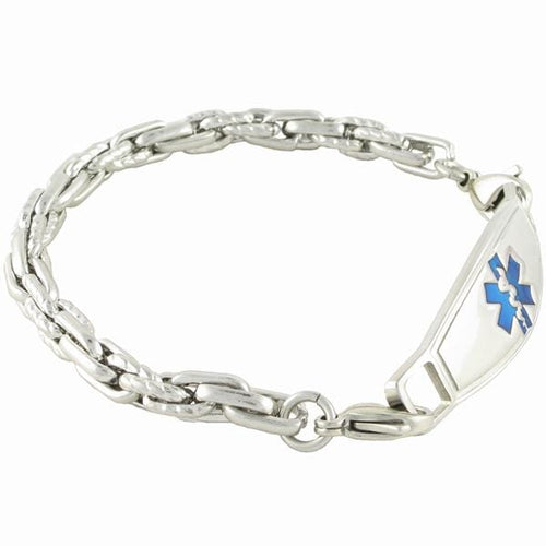 POSEIDON CHAIN MEDICAL ALERT BRACELETS W/ Contempo  ID