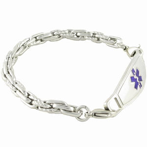 POSEIDON CHAIN MEDICAL ALERT BRACELETS W/ Contempo  ID - n-styleid.com