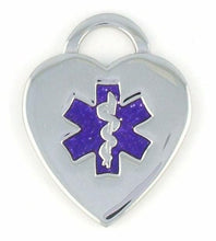 Purple Heart Medical Charms w/Lobster Clasp