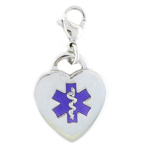 Purple Heart Medical Charms w/Lobster Clasp - n-styleid.com