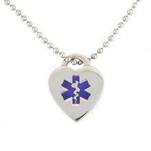 Purple Heart Medical Necklace - n-styleid.com