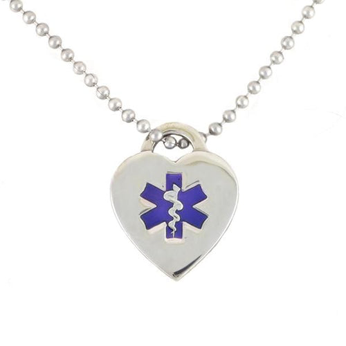 Purple Heart Medical Necklace