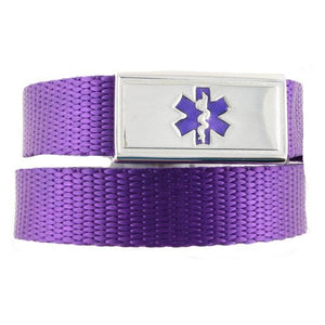 Purple Kids Medical Bracelet