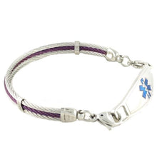 Purple Millennium Medical ID Bracelets - n-styleid.com