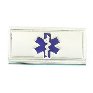 Purple Slider Medical ID Tags - n-styleid.com