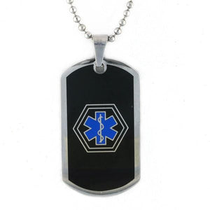 Rad Tag Black & Blue Medical Dog Tag