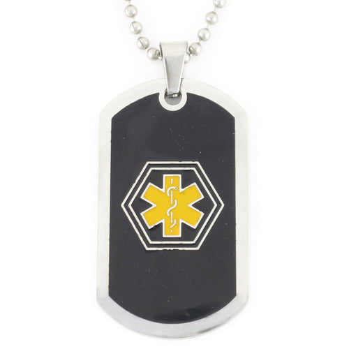 RAD TAG BLACK & GOLD MEDICAL DOG TAG