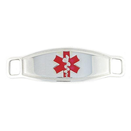 Red Contempo Medical Tags