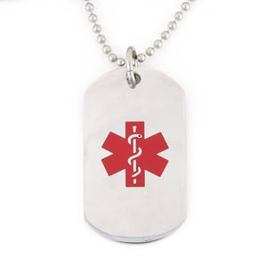 Red Stainless Steel Medical Dog Tag - n-styleid.com