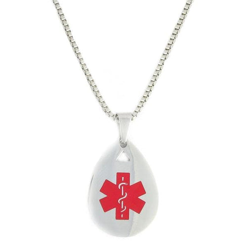 Red Teardrop Medical Necklace - n-styleid.com