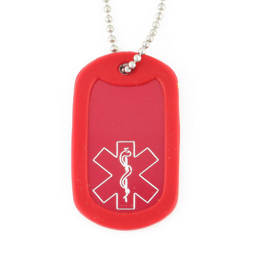 Red Traditional Medical DogTag