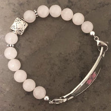 Quartz Beaded Medical ID Bracelet