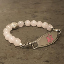 Quartz Beaded Medical ID Bracelet - n-styleid.com